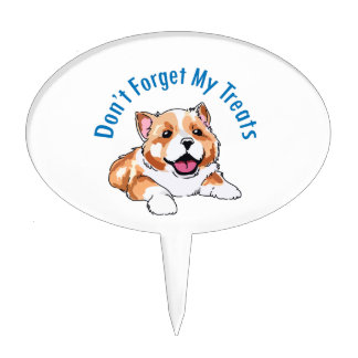 DONT FORGET MY TREATS CAKE TOPPERS