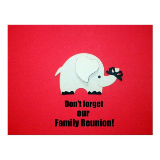 Don't forget our Family Reunion! Postcard