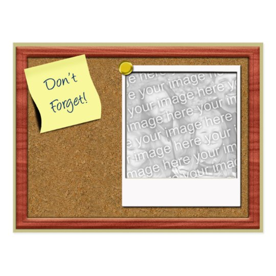Don't Forget Photo Template Postcard