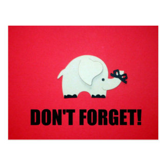 Don't forget! postcard