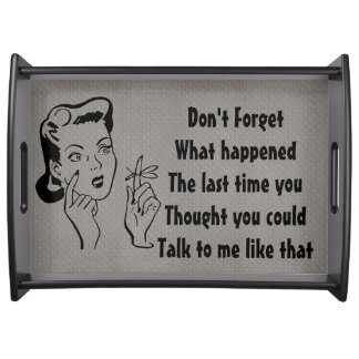 Don't Forget Retro Serving Tray#2 for Her Food Trays