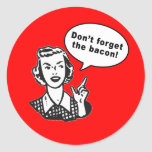 Don't Forget the Bacon! Fun Bacon Design Stickers