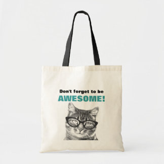 Don't forget to be awesome cute cat tote bag