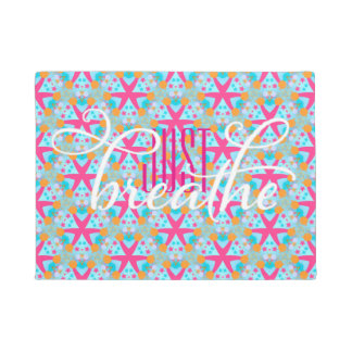 Dont forget to Breath Reminder   Pink Blue Doormat