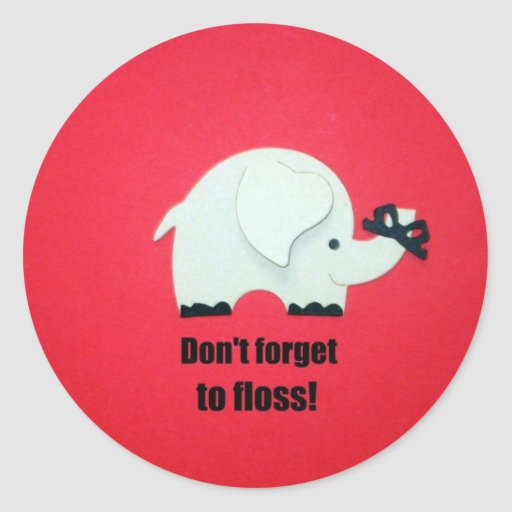 Don't forget to floss! stickers