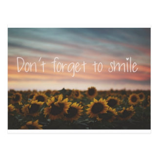 Don't Forget To Smile Postcard