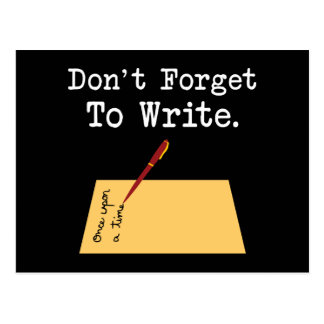 Don't Forget To Write Post Card