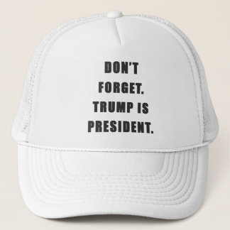 """""""Don't Forget. Trump Is President."""" Hat"""