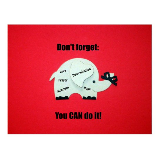 Don't forget: You CAN do it! Postcard