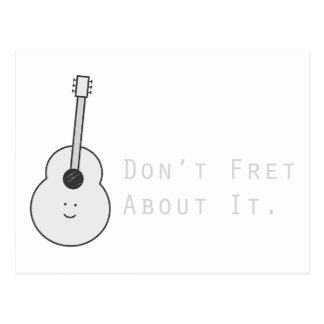 Don't Fret About It Postcard