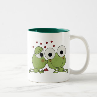 Don't Frog-et the Kiss Valentine Gifts Two-Tone Mug