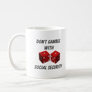 Don't Gamble With Social Security Basic White Mug
