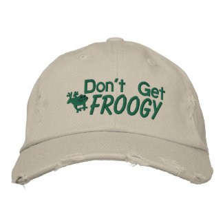 Don't Get Froggy Embroidered Hat