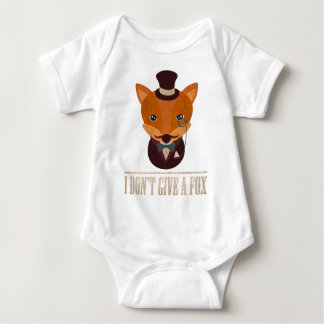 Dont Give A Fox Comic Animal Baby Bodysuit