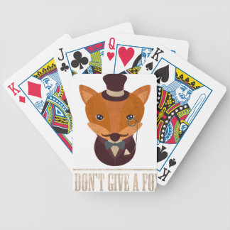 Dont Give A Fox Comic Animal Bicycle Playing Cards