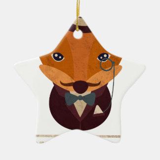 Dont Give A Fox Comic Animal Ceramic Star Decoration