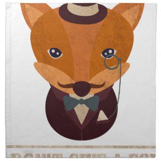 Dont Give A Fox Comic Animal Napkin