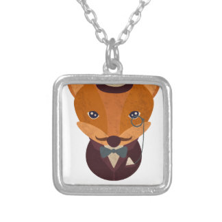 Dont Give A Fox Comic Animal Silver Plated Necklace