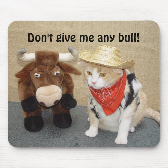 Don't Give Me Any Bull! Mouse Mat