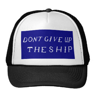 Don't Give Up The Ship Flag Cap
