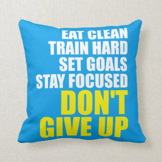 Don't Give Up - Workout Motivational Cushion