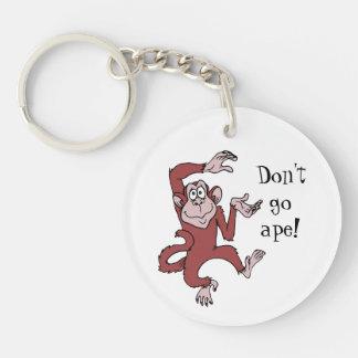 Don't Go Ape Acrylic Key Chain