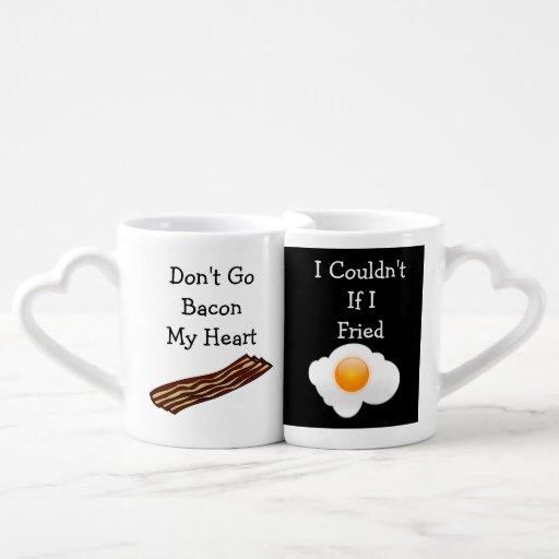 Don't Go Bacon My Heart Funny V2 Lovers Mug Sets