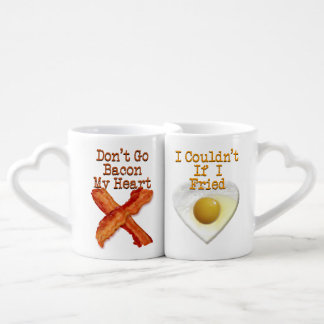 Don't Go Bacon My Heart Humorous Lovers Coffee Mug Set