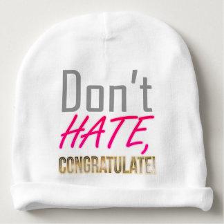 Don't hate, CONGRATULATE! Baby Beanie