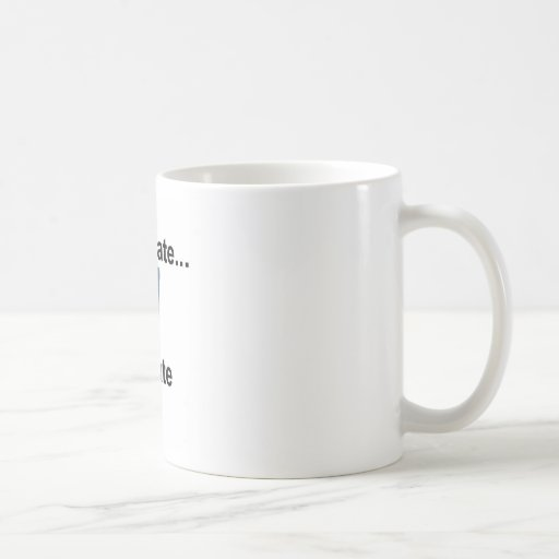 don't hate levitate mug