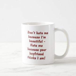 Don't Hate Me Basic White Mug
