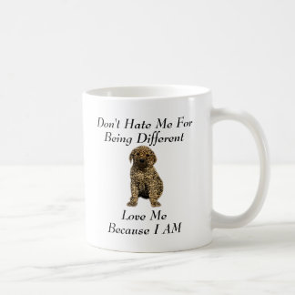 Don't Hate Me..Love Me! Puppy Dog Leopard Print Coffee Mugs