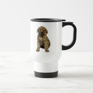 Don't Hate Me..Love Me! Puppy Dog Leopard Print Mug