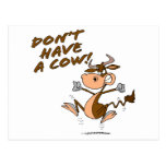 dont have a cow humourous cow cartoon postcard