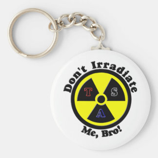 Don't Irradiate Me, Bro! Basic Round Button Key Ring