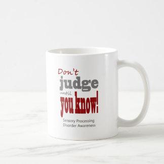 Don't judge basic white mug