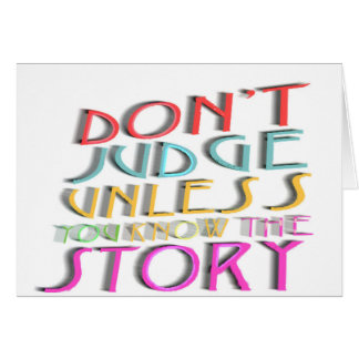 Don't judge collection greeting card