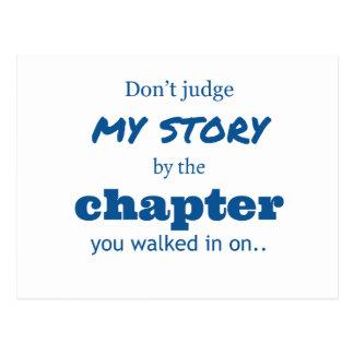 """Don't judge"" quote. Postcard"