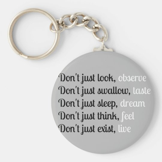 Don't Just Look - Typography Design Key Ring