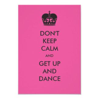 Don't Keep Calm- 3x5 Bachelorette Party Invitation