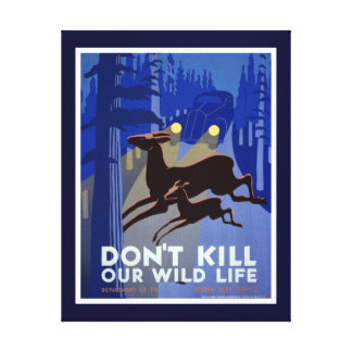 Don't Kill Our Wildlife Canvas Print