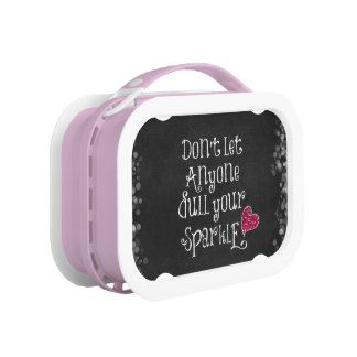 Don't Let Anyone Dull Your Sparkle Quote Lunchbox