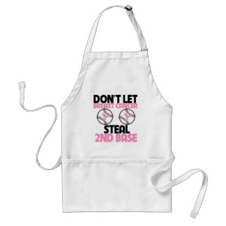 Don't Let Breast Cancer Steal 2nd Base Adult Apron