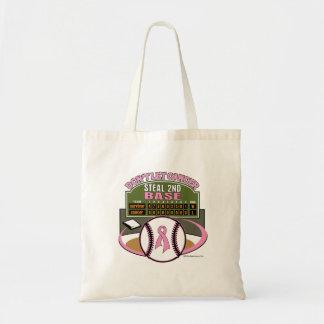Dont Let Breast Cancer Steal 2nd Base Scoreboard Canvas Bag