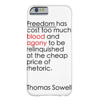 Don't let freedom be rhetoric barely there iPhone 6 case