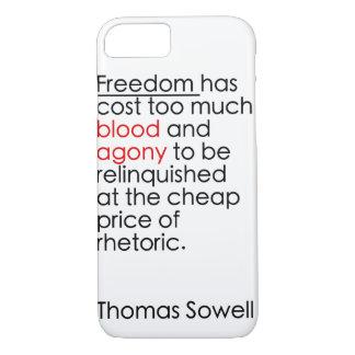 Don't let freedom be rhetoric iPhone 7 case