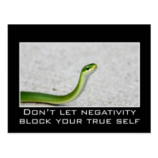 Don't let negativity block you from your true self postcard
