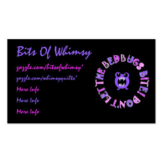 Don't Let The Bedbugs Bite! Business Cards