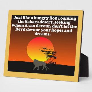Don't let the Devil devour your expectations! Display Plaques