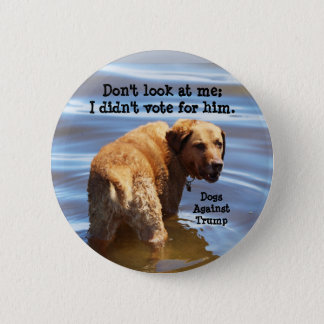 Don't look at me: I didn't vote for him 6 Cm Round Badge
